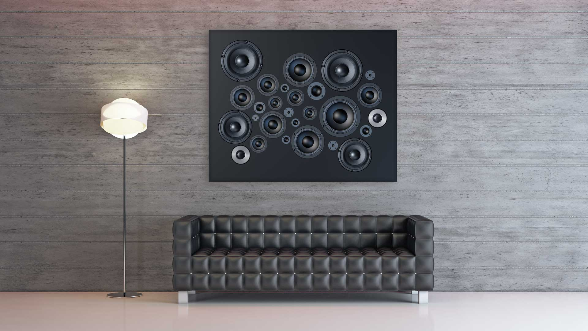 Sound-art concept: illusion.