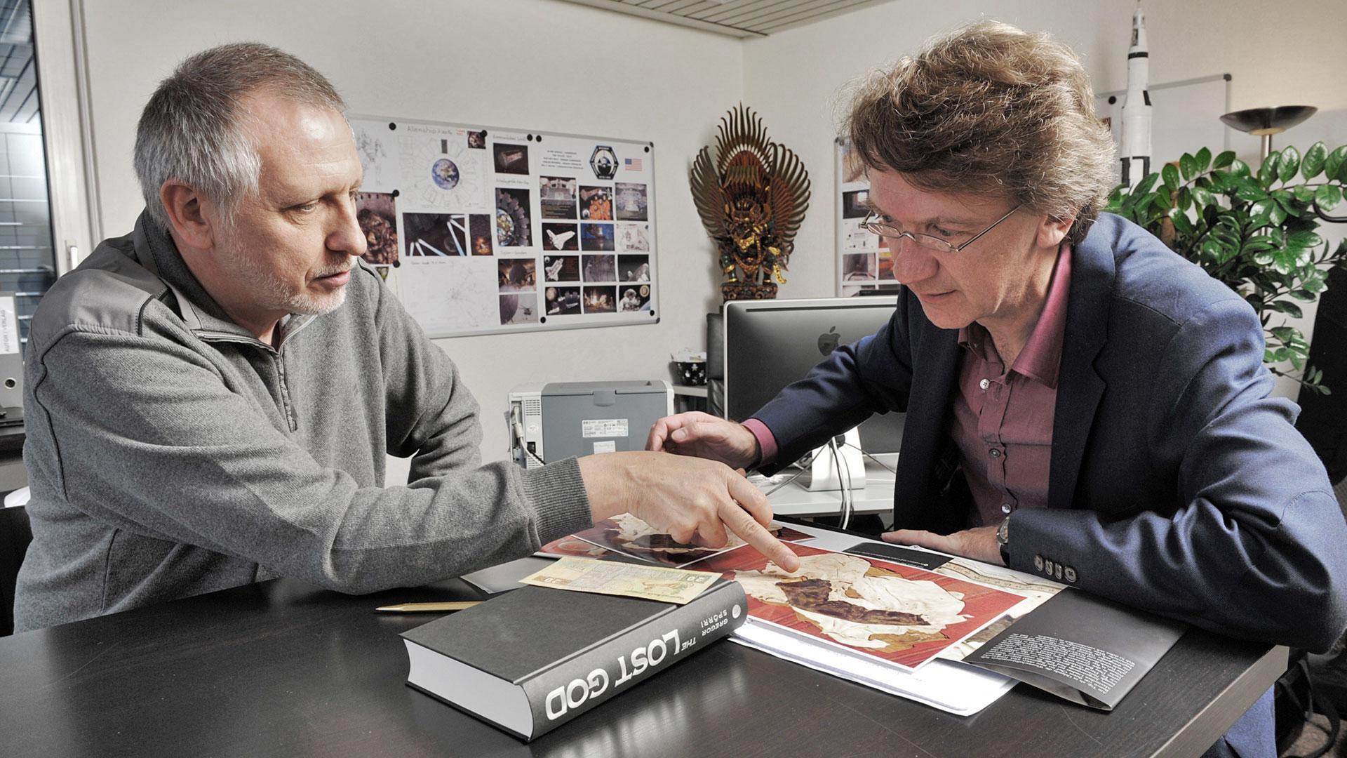 Gregor Spörri mit Sonntags-Blick Reporter Christian Maurer