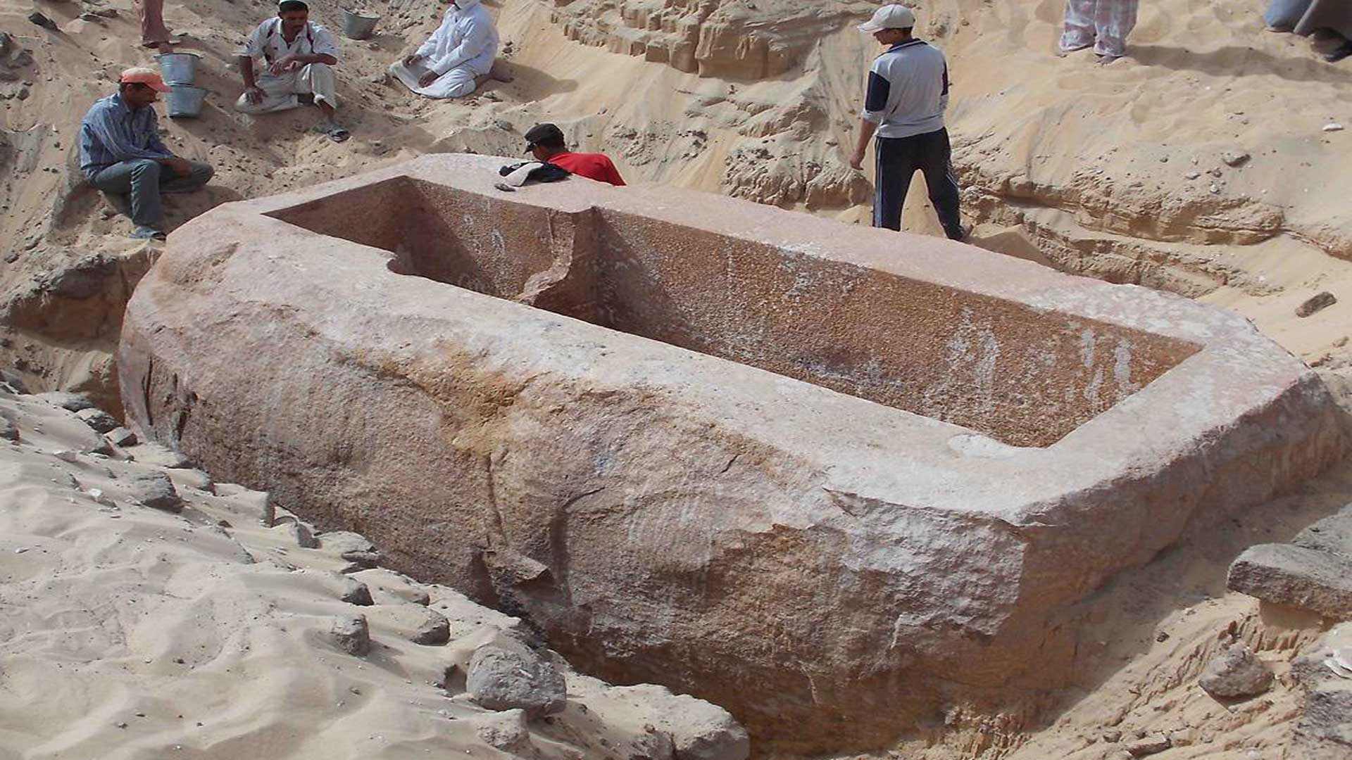 60-ton sarcophagus from Abydos.