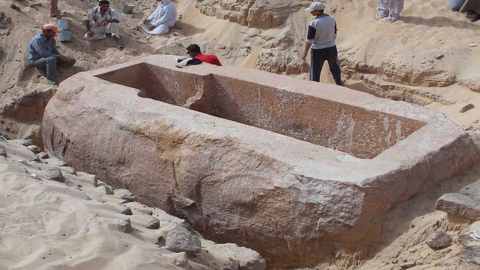 60-Tonnen-Sarkophag aus Abydos.