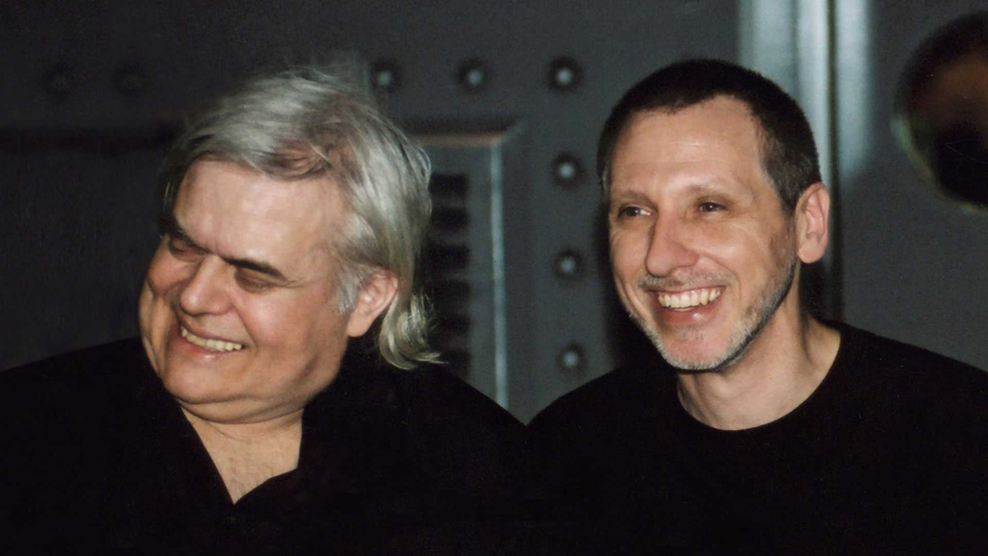 Alien creator, artist, painter and Oscar winner Hans Rudolf H.R. Giger with entrepreneur Gregor Spörri.