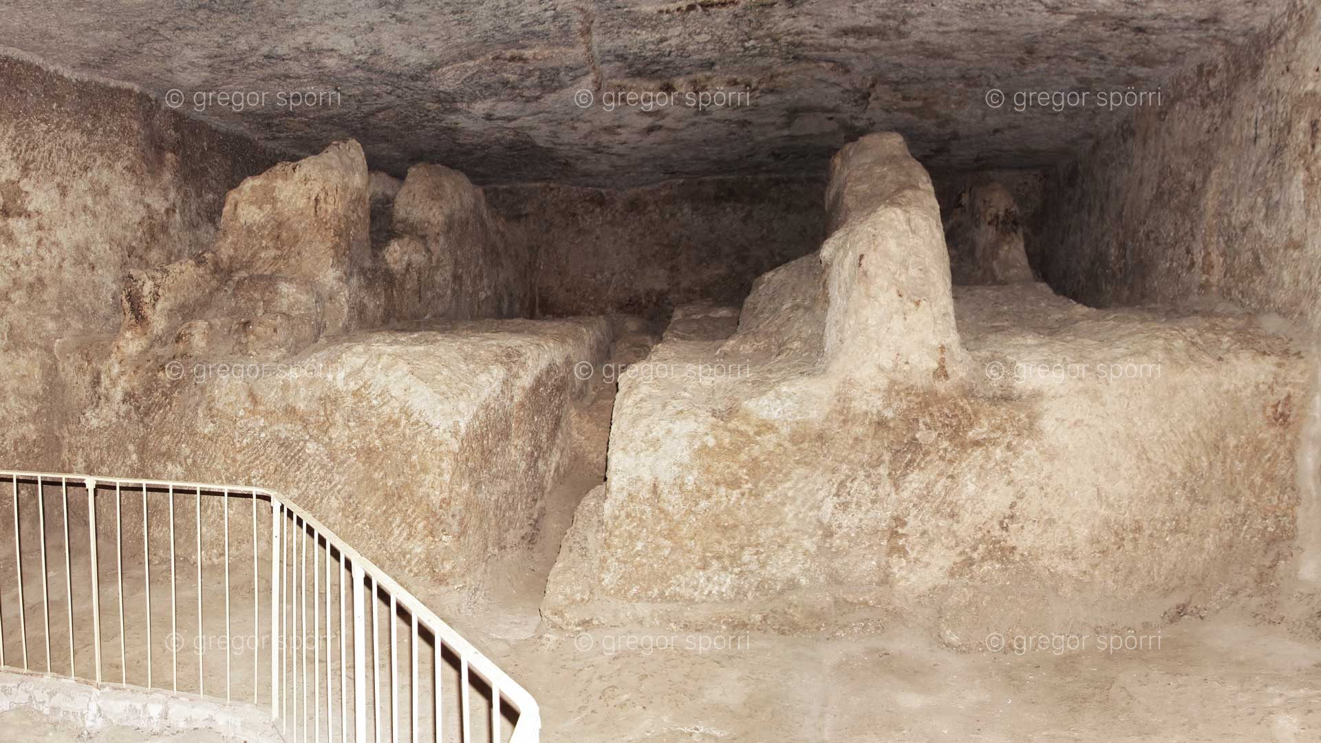 The west side of the rock chamber under the Great Pyramid