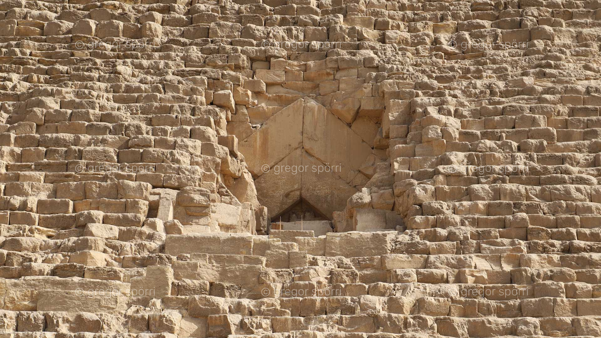 The original original entrance to the Great Pyramid