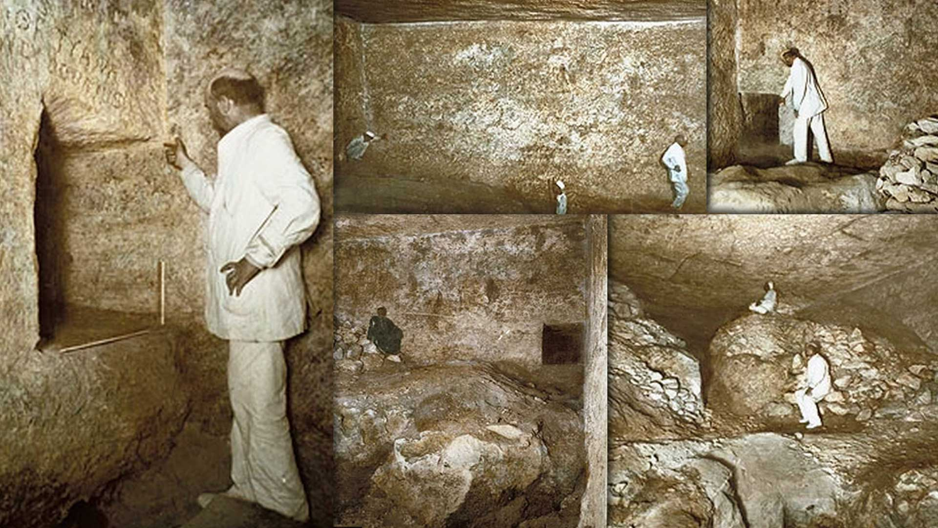 John and Morton Edgar explore the Rock Chamber (1910)