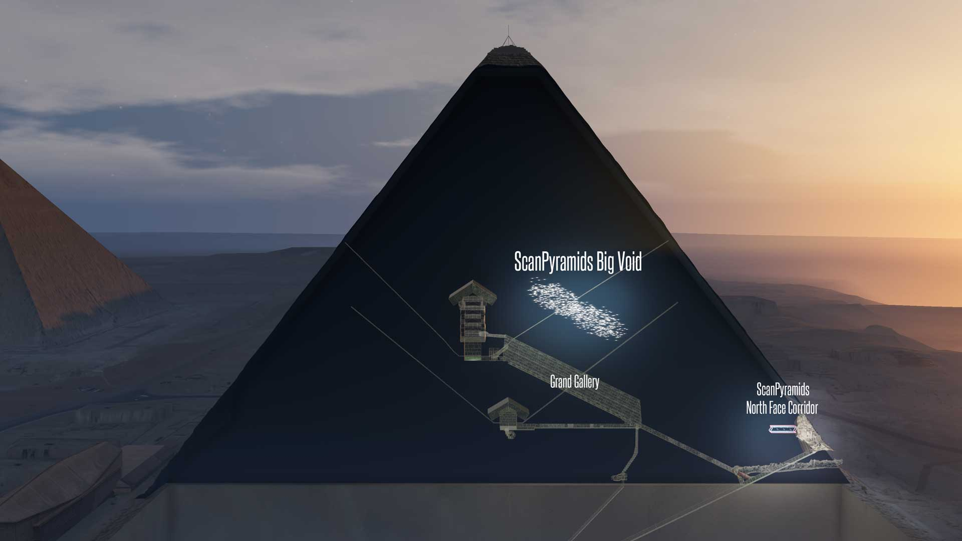 Researchers discover two new cavities in the Great Pyramid (Image: © ScanPyramids)