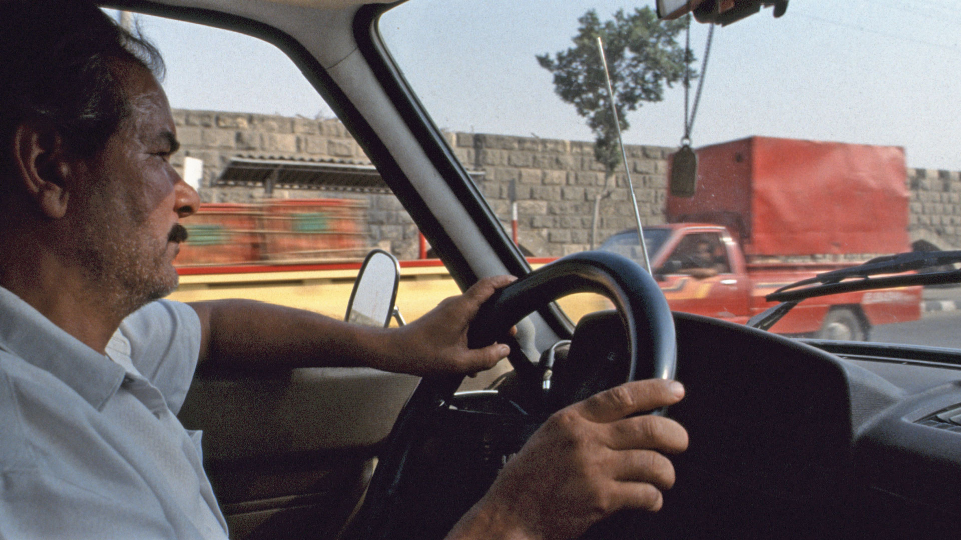 GS by taxi on the way from Cairo to Bir Hooker (1988)
