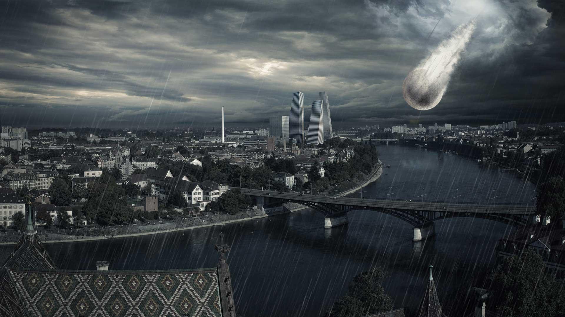 Riesiges Objekt stürzt auf Basel und löst eine gewaltige Katastrophe aus.