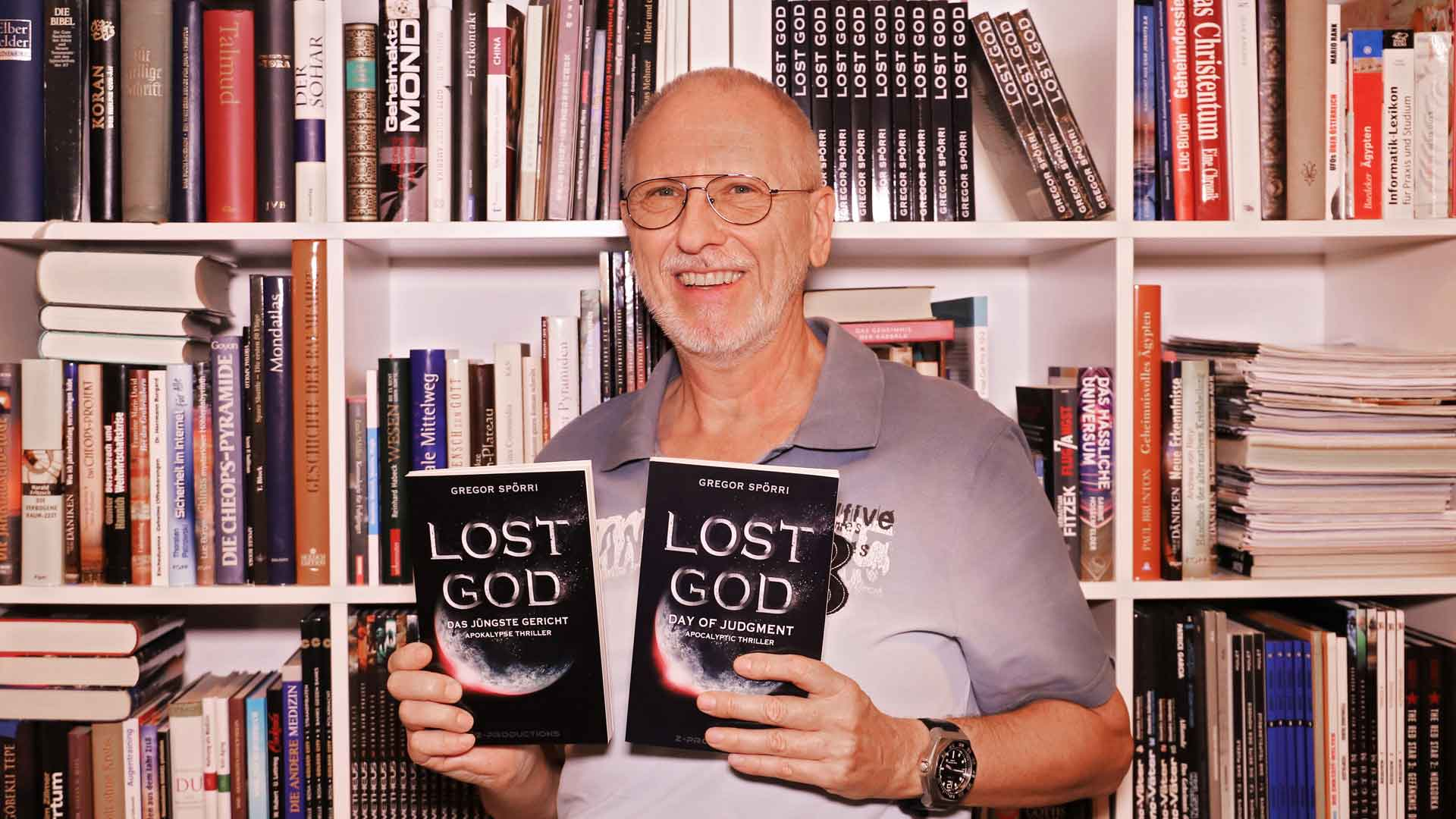 Gregor Spörri, author of LOST GOD.
