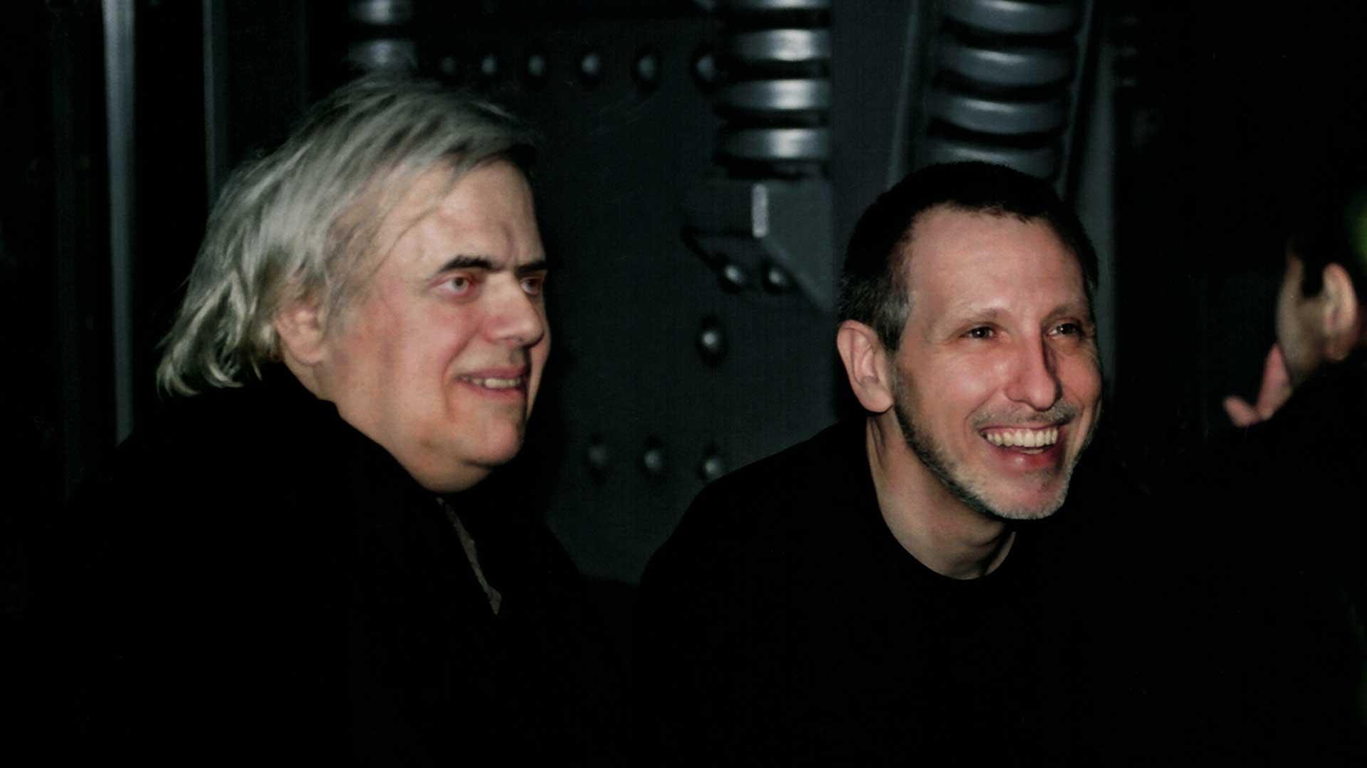 Alien-Schöpfer Hansruedi H.R. Giger mit Gregor Spörri.