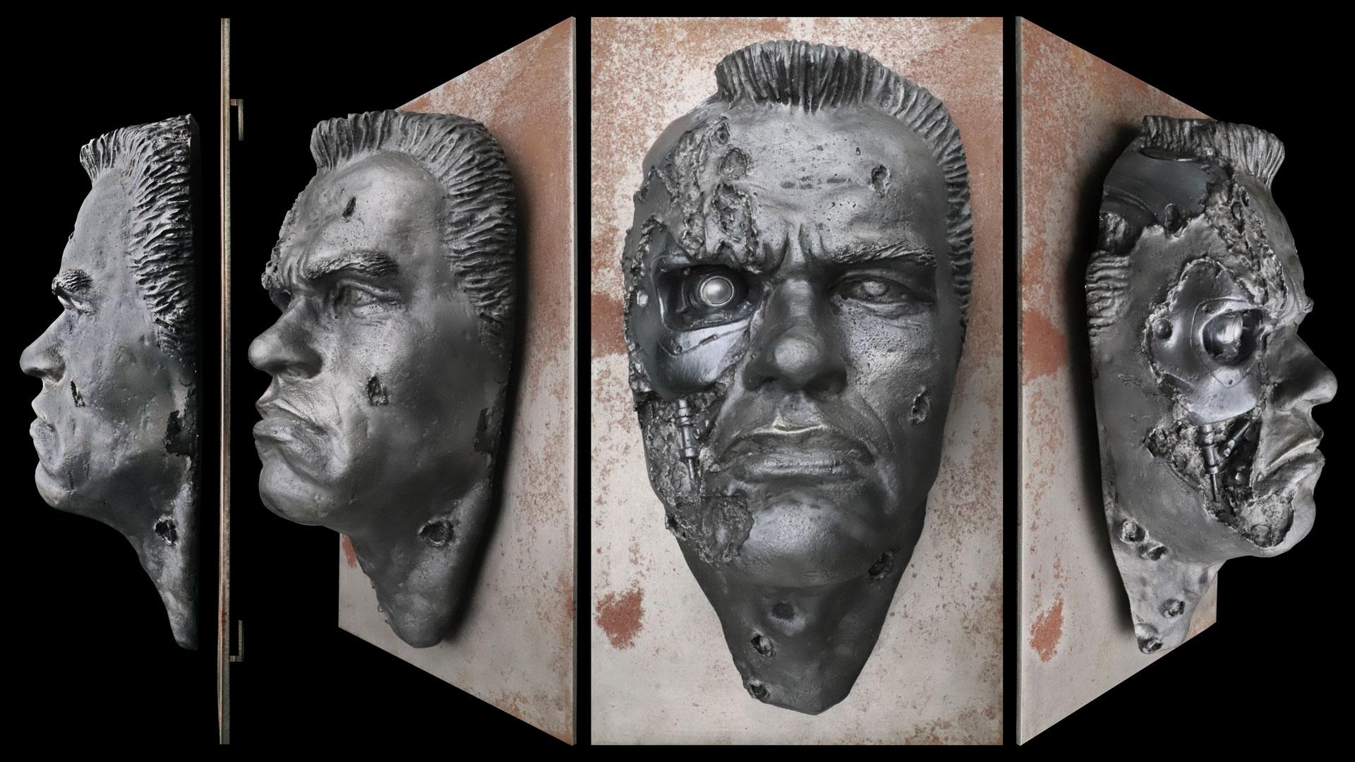 Arnold Schwarzenegger T-800 Terminator Livesize Face.