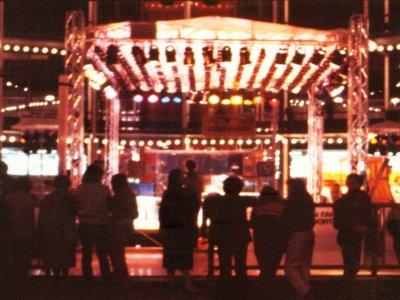 Matrix-Lightshow für eine Rollerdisco.