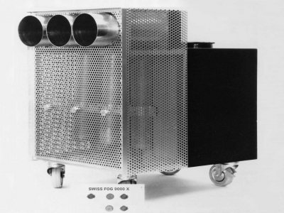 Z-Productions fabriziert die weltstärkste Nebelmachine Swiss Fog 9000 X.