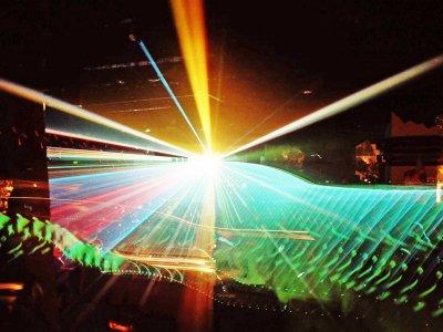 Installation und Programmierung der Laser-Show im Only One Megaclub (1989)