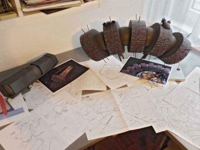 Z-Productions plant und baut Raumschiff-Modelle für das Projekt: LOST GOD.