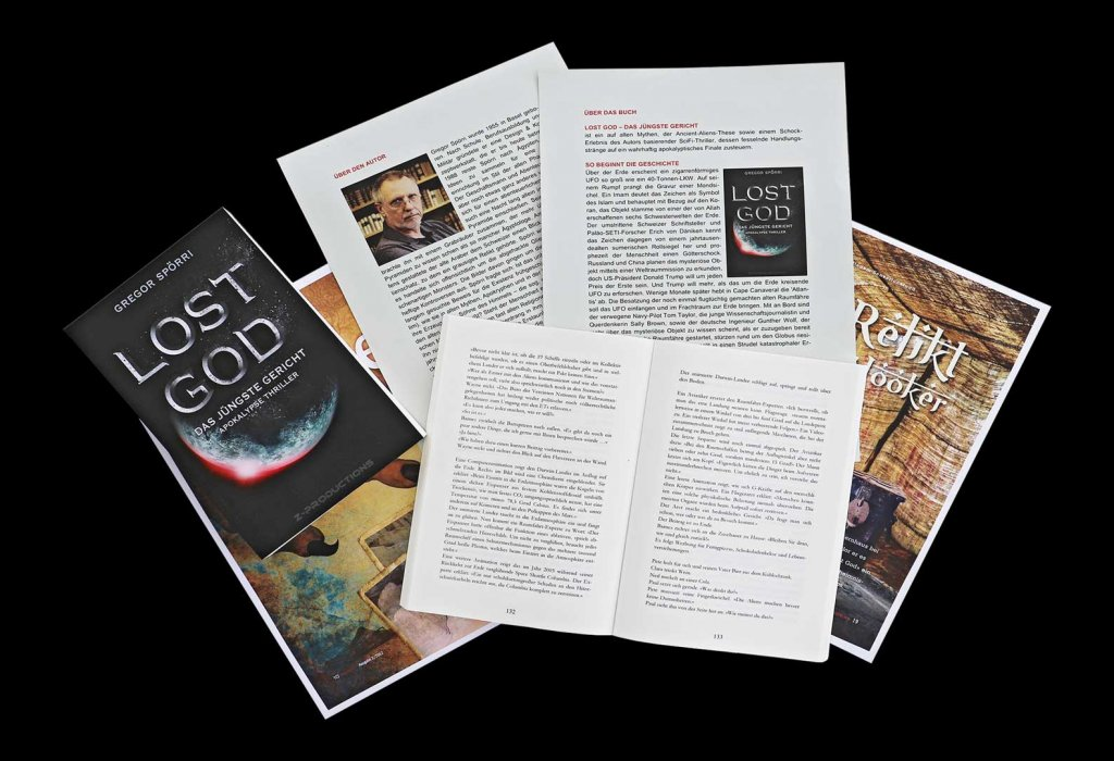 Reading samples and information about the novel: LOST GOD - The Last Judgment.